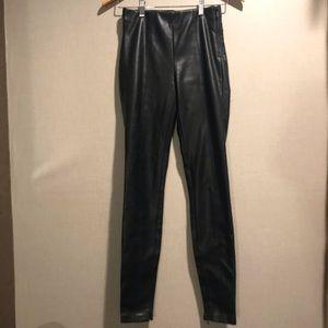 Black Faux Leather Zara Trafaluc Leggings XS